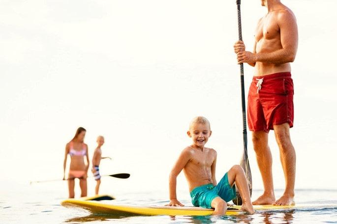 famille avec paddle
